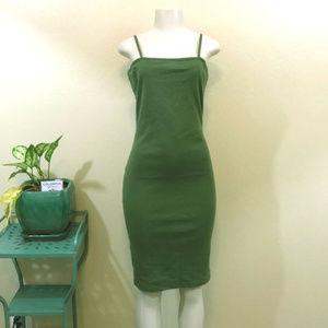 Topshop l Olive Square Neckline Dress Size 8